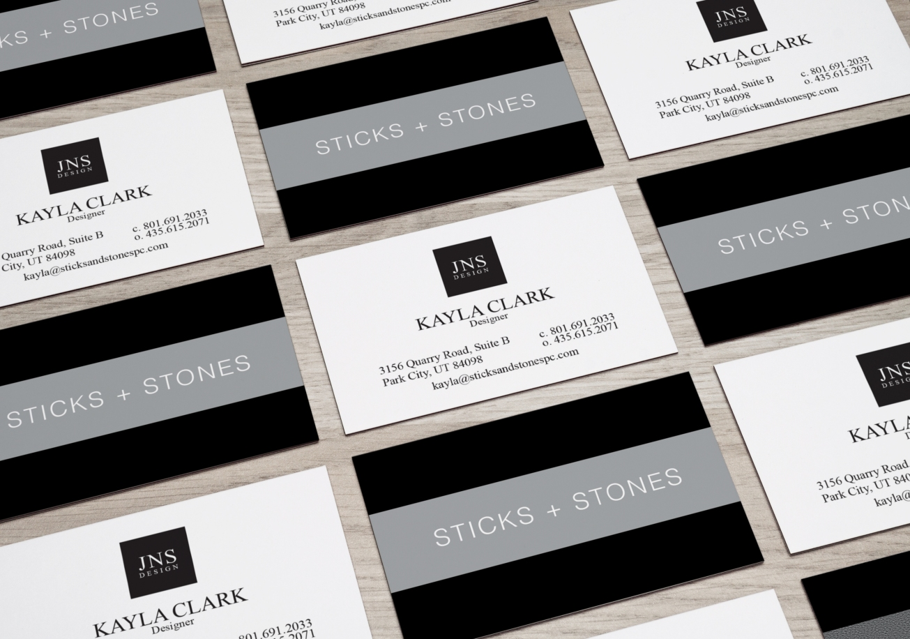 Sticks and Stones Business Card Mockup 1