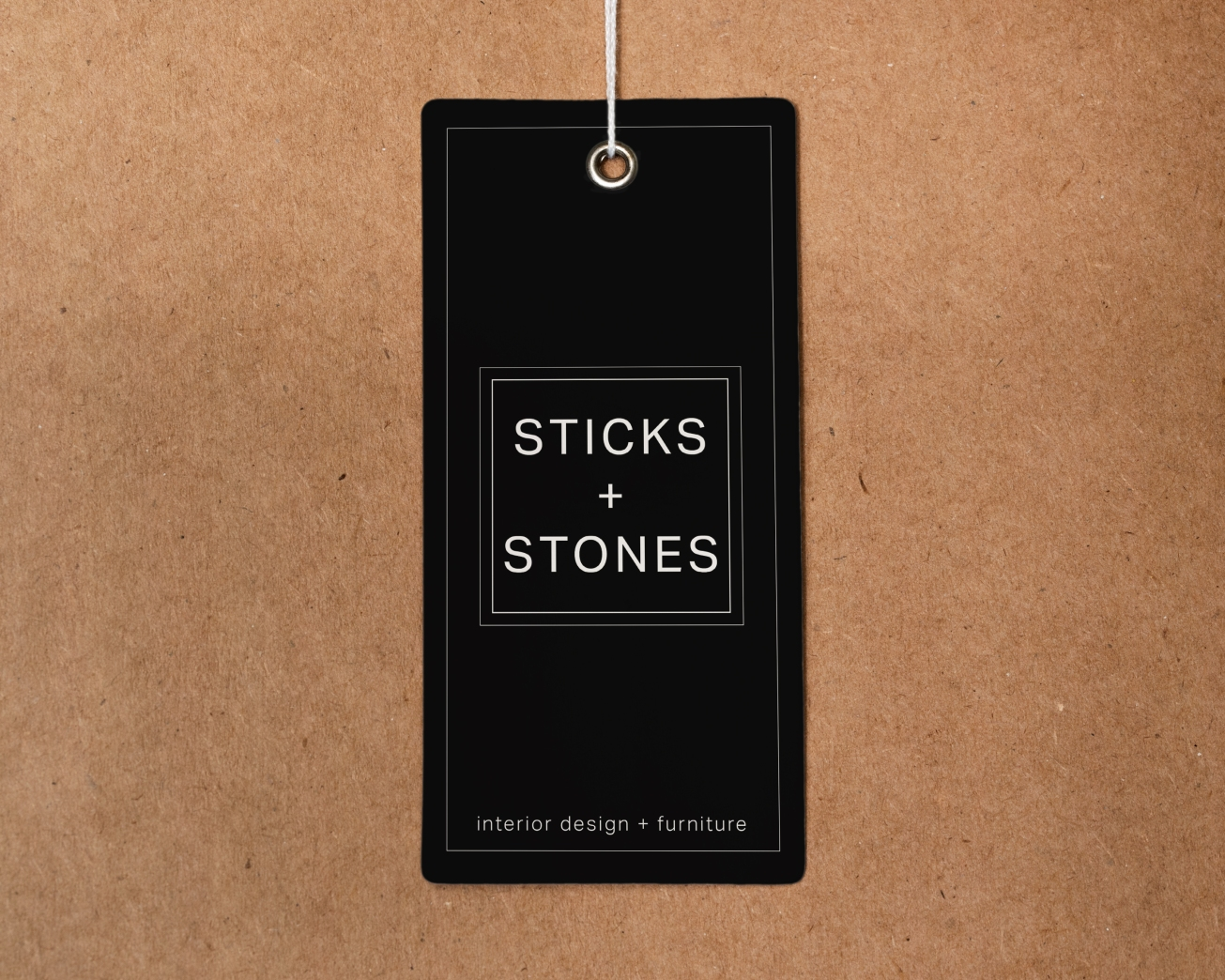 Sticks and Stones Tag Mockup